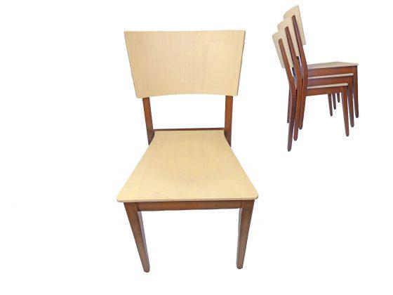 Modell 4204 Stuhl aus Buchenholz, zweifarbig gebeizt, stapelbar!